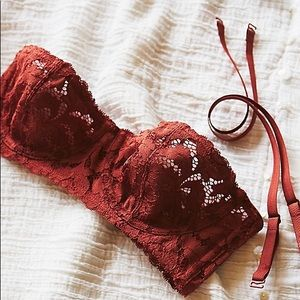 NWOT Free People Love Letters Convertible Lace Bra